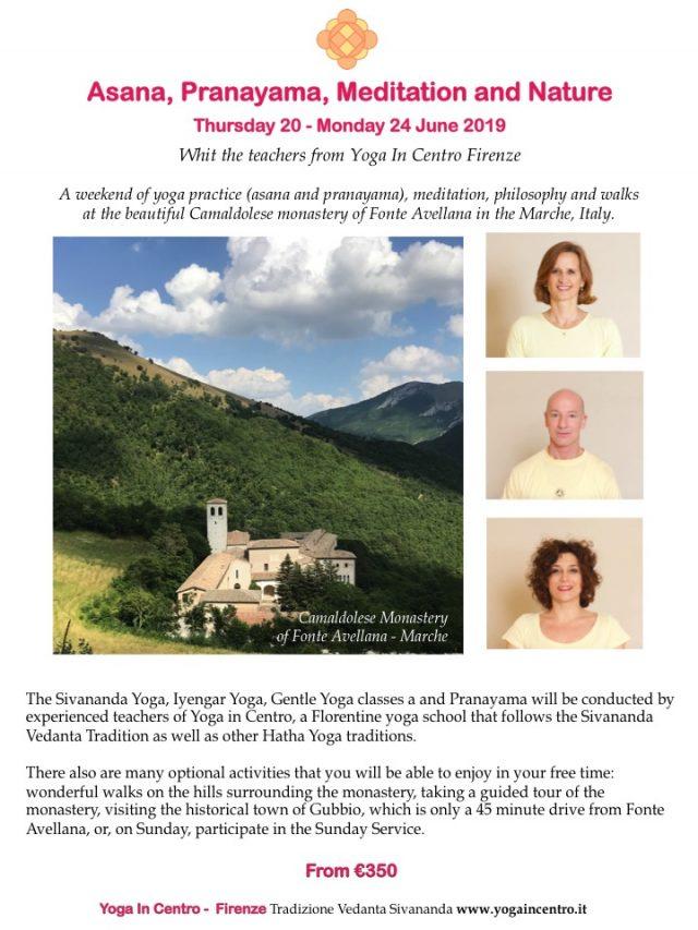 Yoga Retreat 20-24 June 2019